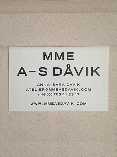 -MME A-S DAVIK CONTACT CARD-
