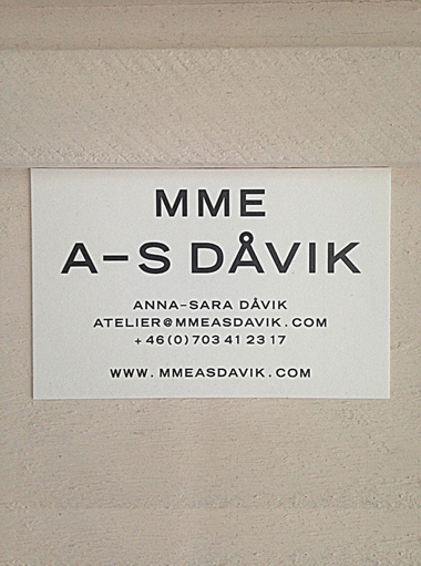 MME A-S DAVIK CONTACT CARD
